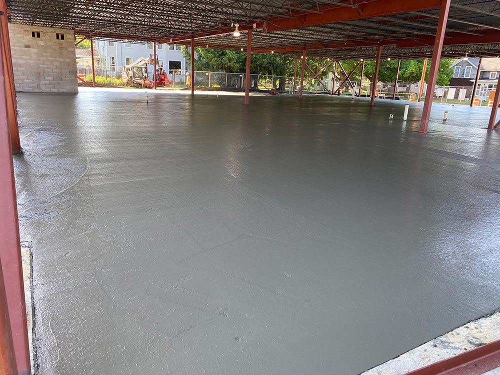 Concrete Contractor Green Bay WI Belleville Library Flatwork for Commercial